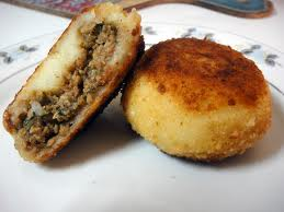 Potato Chops with Beef Mince